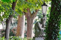 Satyr - devil tempter. Ancient Satyr / devil sculpture. Royal Baths Park - Warsaw/Poland Stock Photography