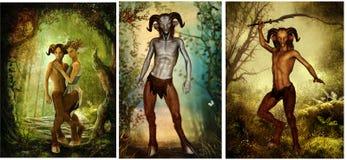 Satyr från grekisk mytologi Arkivfoto