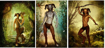Satyr from greek mythology Stock Photo