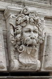 Satyr mask basrelief. In front of the Palace of Justice in Rome, Italy Stock Photo