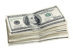 Satz 100 Dollar Lizenzfreie Stockfotografie