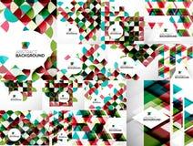Satz abstrakte geometrische Flieger-Schablonen Lizenzfreies Stockfoto