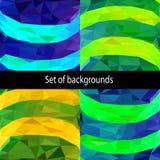 Satz abstrakte geometrische Hintergründe Lizenzfreie Stockbilder