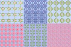 Satz abstrakte geometrische mit Blumenmuster Stockfotografie