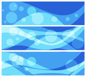 Satz abstrakte Hintergründe für Fahnen Lizenzfreie Stockbilder