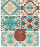 Satz abstrakte nahtlose Muster, Kaleidoskopverzierungen Lizenzfreies Stockbild