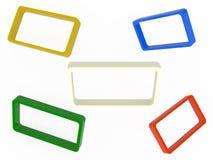 Satz abstrakte Rahmen Lizenzfreie Stockbilder