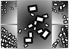 Satz abstrakte Rahmen auf einem grauen Hintergrund mit Steigung Dekorative Elemente lizenzfreie abbildung