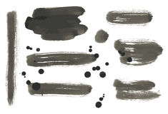 Satz abstrakte Vektorfarbenfahnen Stockbild