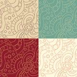 Satz abstrakten nahtlosen Musters vier Lizenzfreies Stockbild