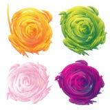 Satz abstrakter Blumenvektorhintergrund Stockbilder