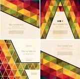 Satz abstrakter geometrischer Hintergrund vier Lizenzfreie Stockbilder
