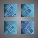 Satz abstraktes backgroundswith glatte leuchtende Zahlen. Lizenzfreie Stockbilder