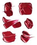 Satz Abstriche von den verschiedenen kosmetischen Produkten Lizenzfreie Stockfotografie