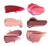 Satz Abstriche von den verschiedenen kosmetischen Produkten Stockfoto