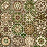 Satz achteckige und quadratische Muster Stockfoto