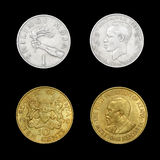 Satz afrikanische Münzen Stockbild