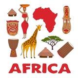 Satz afrikanische Symbole Stockfotografie