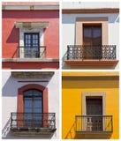 Satz alte Balkone in Mexiko Lizenzfreie Stockfotografie