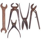 Alte rostige Werkzeuge Stockfotos