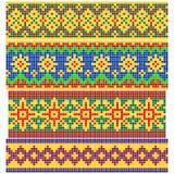 Satz alte russische Muster Stockbild
