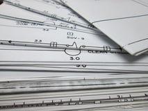 Satz amerikanische elektrische Zeichnungen Stockfoto