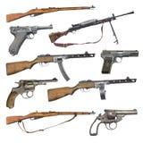 Satz antike Feuerwaffenwaffen stockbild