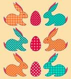Satz Anwendung Ostern-Kaninchen Lizenzfreies Stockfoto