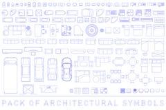 Satz Architektursymbole lizenzfreies stockbild