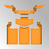 Satz Ausweise, Aufkleber und Bänder für Text vektor abbildung