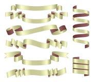 Satz Bänder Stockfoto