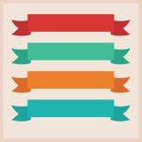 Satz Bänder. Vektorillustration Stockfotos