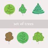 Satz Bäume Lizenzfreies Stockfoto