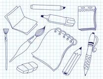 Satz Bürowerkzeuge Stockbild