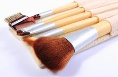 Satz Bürsten für Make-up Lizenzfreie Stockbilder