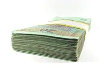 Satz Banknoten Stockfoto