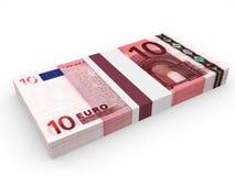 Satz Banknoten 10 Euro Lizenzfreie Stockbilder
