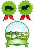 Satz Bauernhofaufkleber Stockbilder
