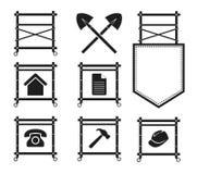 Satz Baugerüst-Ikonen für Website, EPS10 Stockbild
