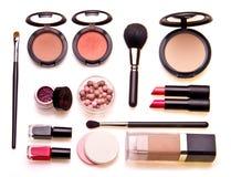 Satz Berufskosmetik Stockbilder