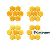 Satz Bienenwaben Stockbild