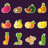 Satz biologisches Lebensmittel Stockfotografie