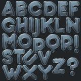 Satz Blasen-Alphabet A-Z vektor abbildung