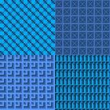 Satz blauer nahtloser Netzhintergrund Lizenzfreie Stockfotos