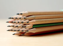 Satz Bleistifte stockfotos