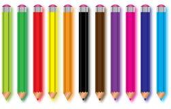 Satz Bleistifte Stockfoto