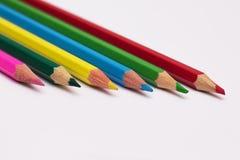 Satz Bleistifte von verschiedenen Farben für das Zeichnung lesson_ Stockfotografie