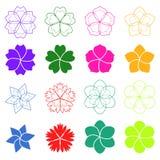 Satz Blumen Lizenzfreies Stockfoto