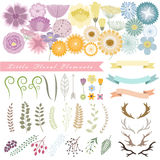 Satz Blumen-elements_1 Stockbild