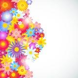 Satz Blumenfahnen, veranschaulicht mit Illustrator CS und EPS10 Lizenzfreie Stockbilder